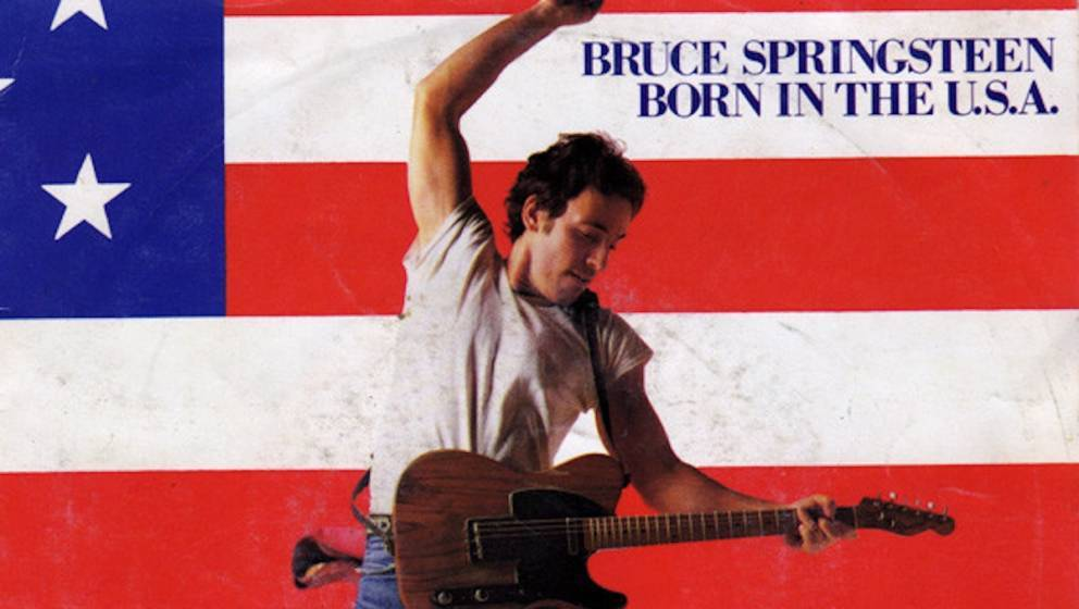 "Cover der Single ""Born In The U.S.A."" von Bruce Springsteen"