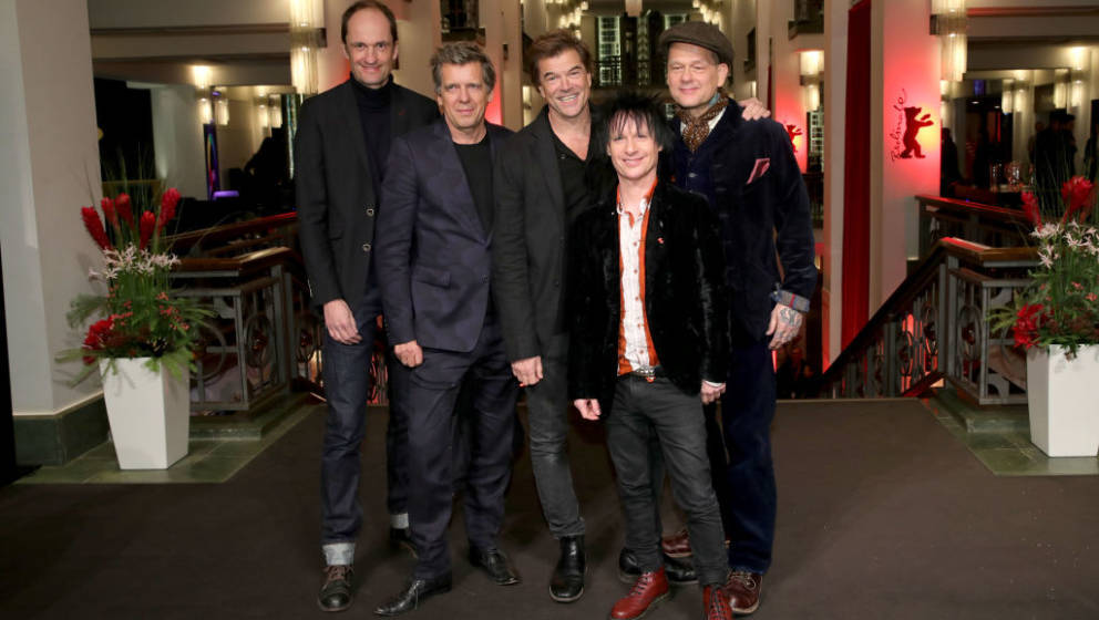 BERLIN, GERMANY - FEBRUARY 15: (L-R) Breiti (Michael Breitkopf), Andi (Andreas Meurer), Campino (Andreas Frege), Vom (Stephen