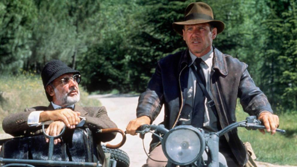 Harrison Ford und Sean Connery 1989 als 'Vater' und 'Sohn'