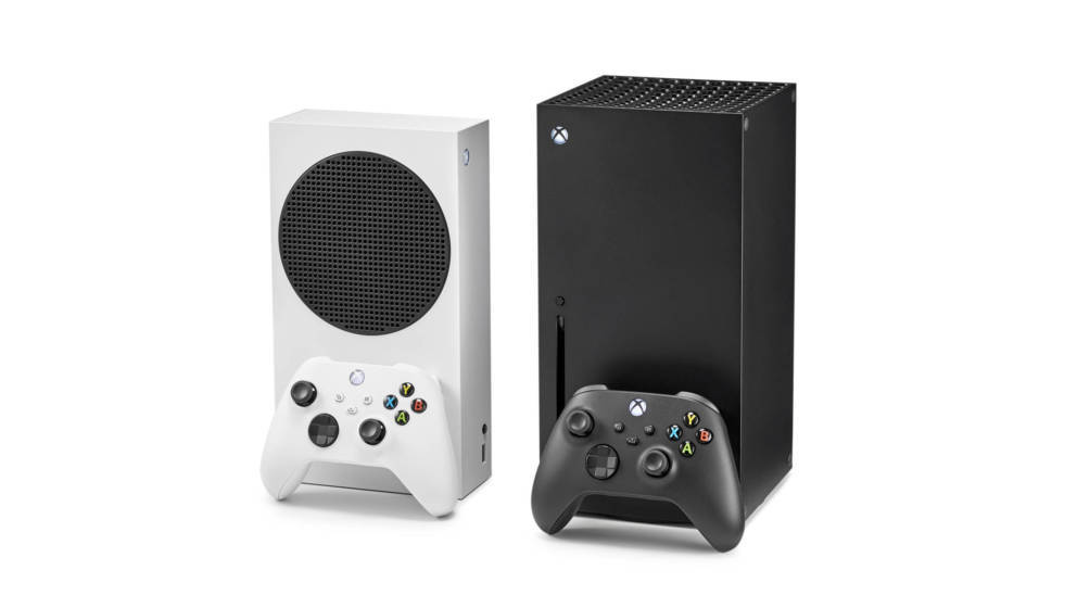 A pair of Microsoft home video game consoles, including an Xbox Series S (L) and Xbox Series X, taken on October 27, 2020. (P