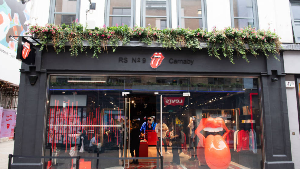 LONDON, ENGLAND - SEPTEMBER 08: A general view of the Rolling Stones Carnaby Street store opening at RS No. 9 Carnaby on Sept