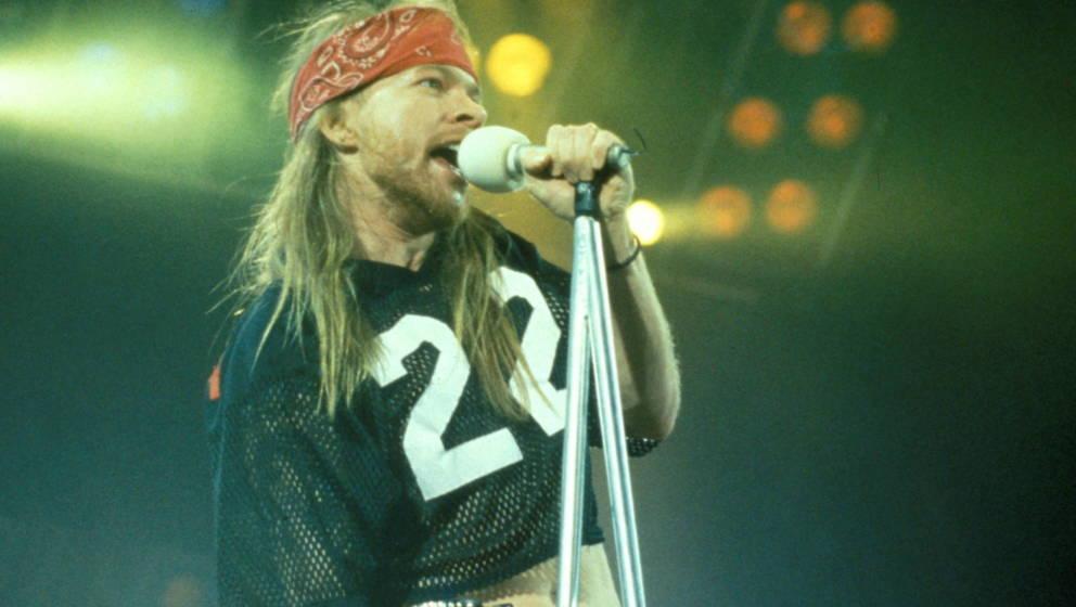 """Axl Rose von Guns N'Roses beim """"Freddie Mercury Tribute Concert"""" im Wembley"""