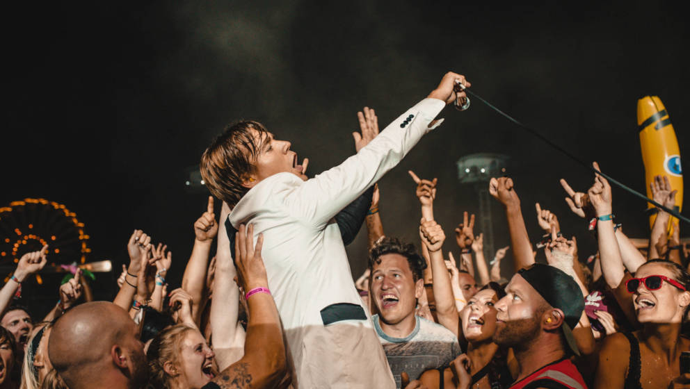 LEIPZIG, GERMANY - AUGUST 18: Howlin' Pelle of the swedish rock band The Hives performs live on stage during day 2 of the Hig