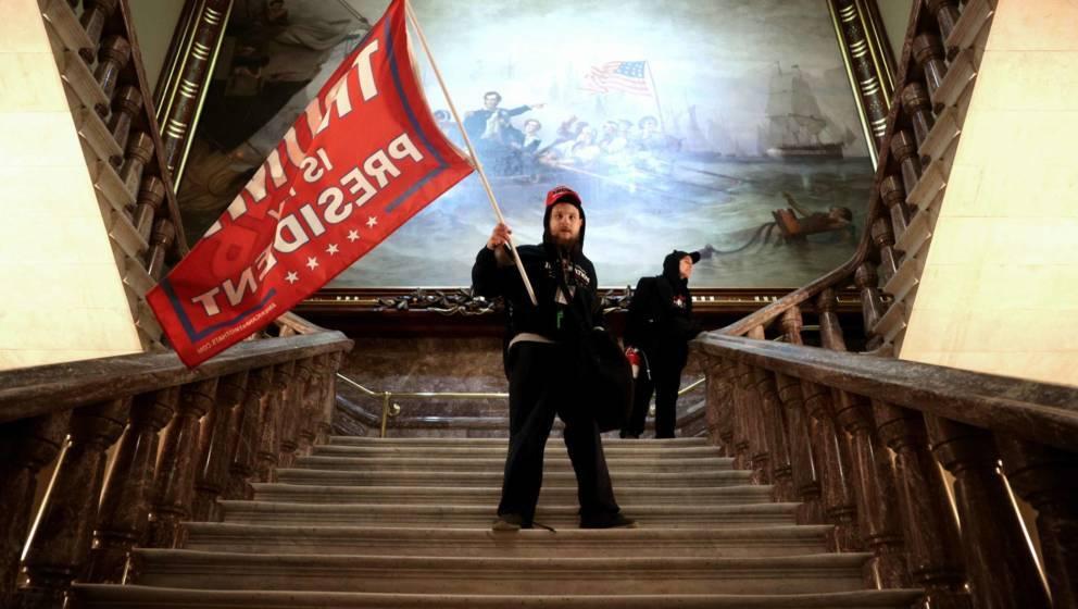 Ein Trump-Unterstützer im US-Capitol