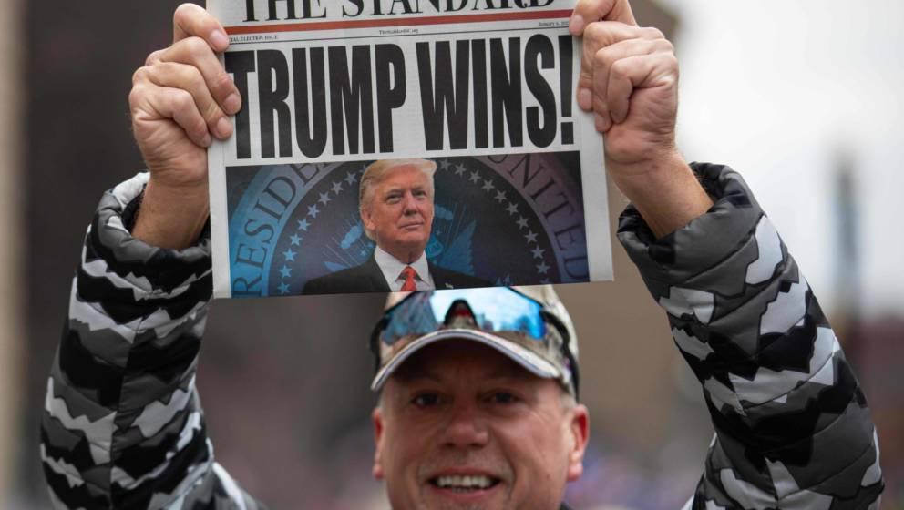 Ein Trump-Anhänger in Washington