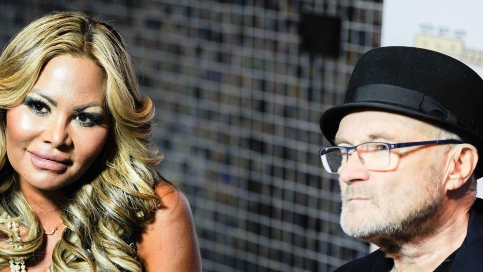 Orianne Bates (kürzlich noch Orianne Cevey) und Phil Collins 2017