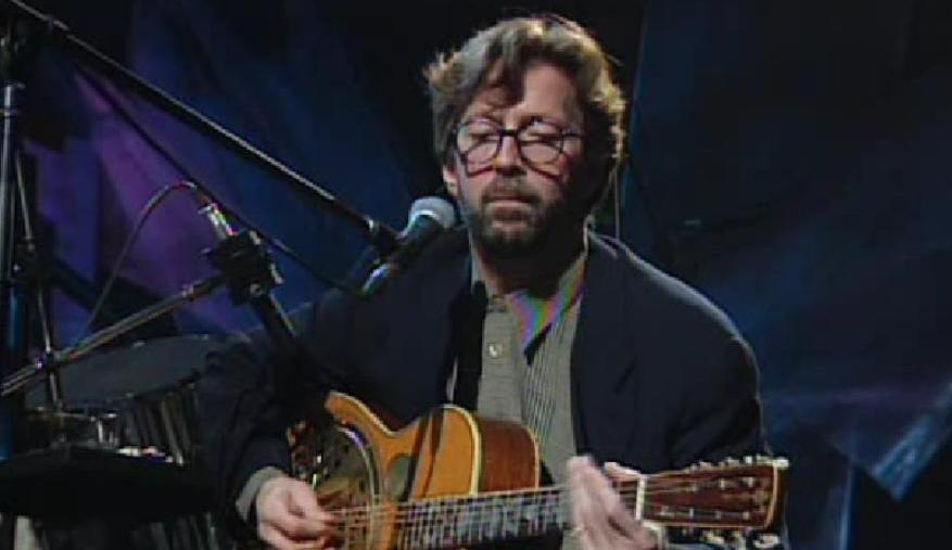 "Eric Clapton bei ""MTV Unplugged"" am 16. Januar 1992"