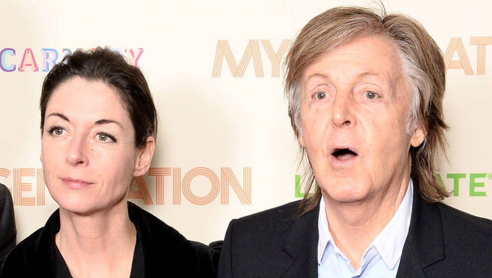LONDON, ENGLAND - MARCH 14:  Mary McCartney (L) and Sir Paul McCartney attend the My Generation special screening at BFI Sout