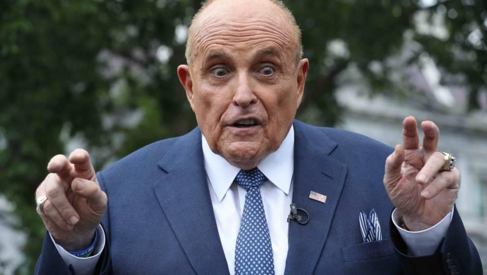 Rudy Giuliani 2020 vor dem Weißen Haus in Washington D.C.