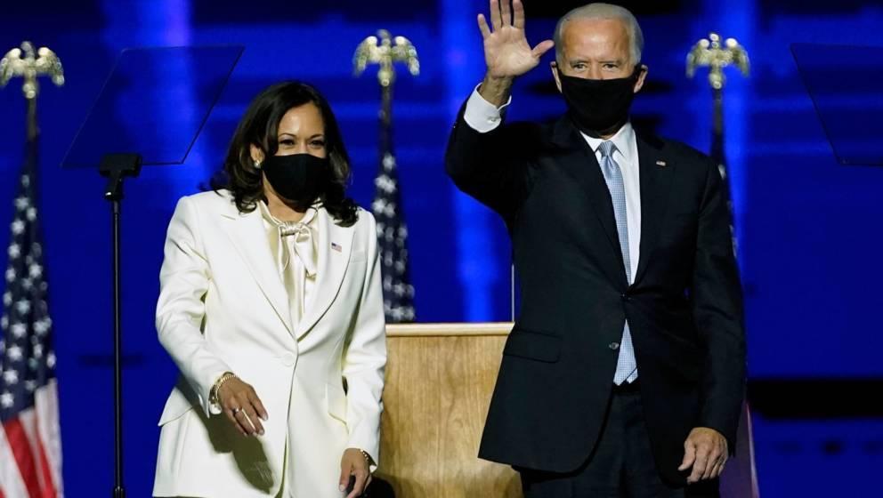 Die designierte US-Präsidentin Kamala Harris und der designierte US-Präsident Joe Biden