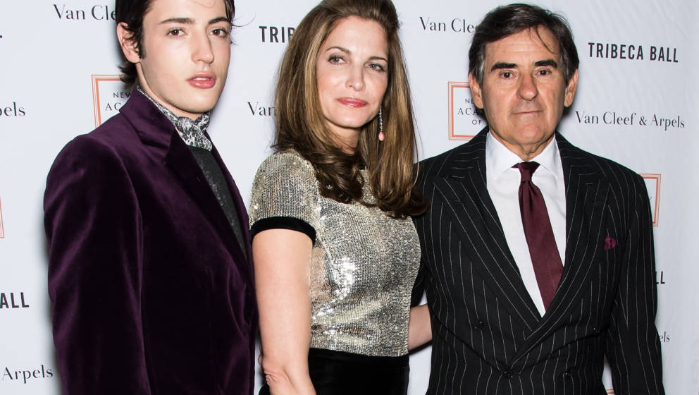 NEW YORK, NY - APRIL 13:  Harry Brant, model Stephanie Seymour and industrialist/businessman Peter M. Brant attend the 2015 T