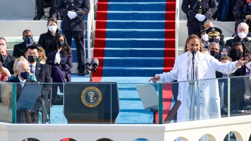 Jennifer Lopez auf der Amtseinführungsfeier von Joe Biden