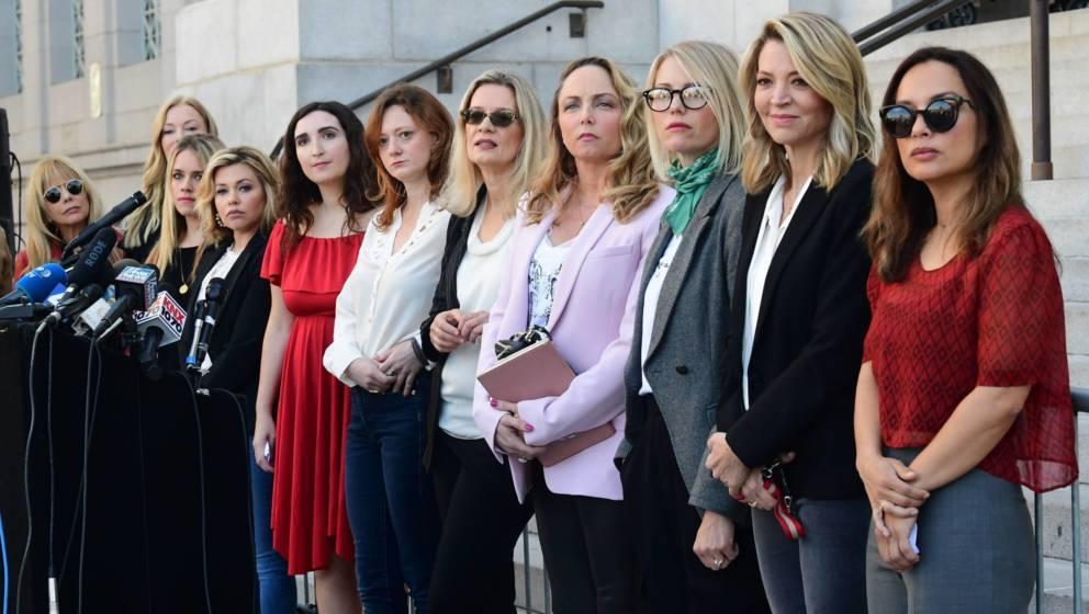 Hollywood-Schauspielerinnen und weitere Mitglieder der Gruppe 'Silence Breakers', die für Gerechtigkeit gekämpft haben, ind