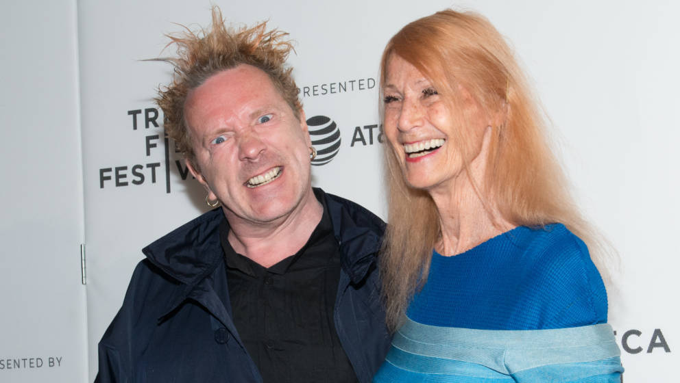 NEW YORK, NY - APRIL 21:  (L-R) John Lydon and Nora Forster attend 'The Public Image is Rotten' Premiere during 2017 Tribeca