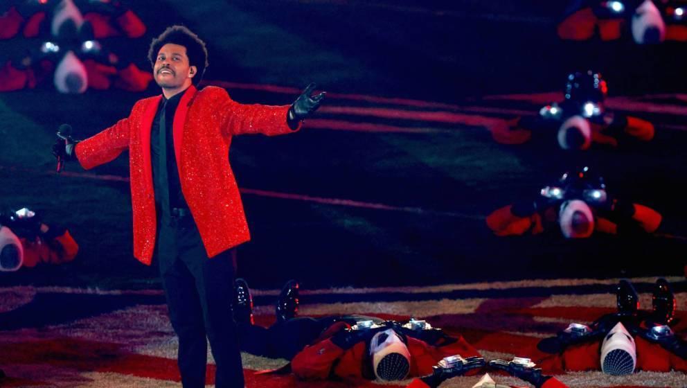 Last Man Standing: The Weeknd am Ende der Performance seiner Halbzeit-Show beim Super Bowl 2021