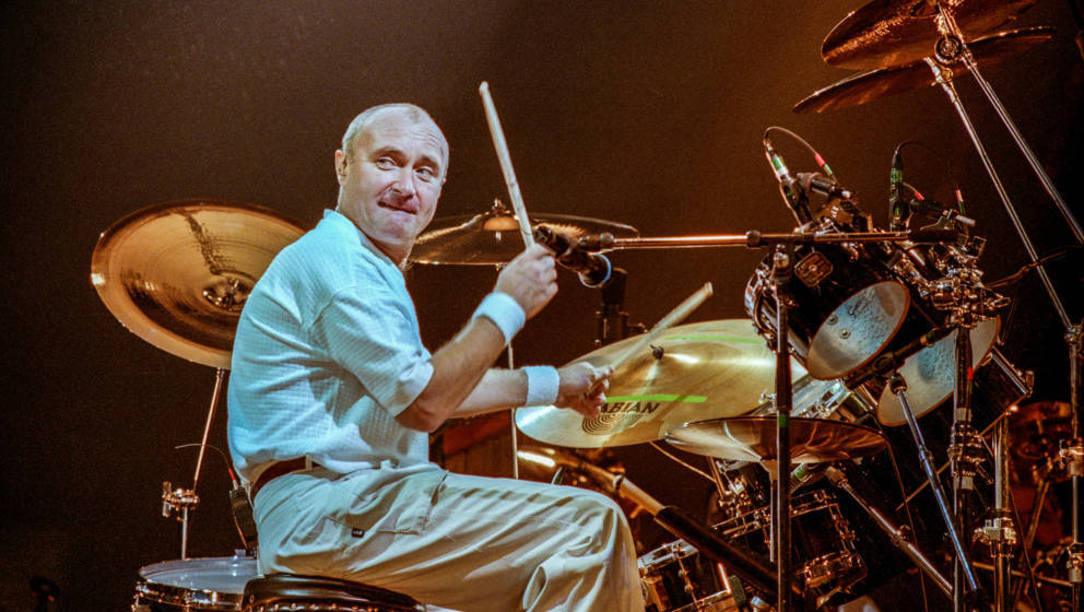 British drummer, singer and songwriter Phil Collins performs at Ahoy as part of his The Trip into the Light World Tour, Rotte