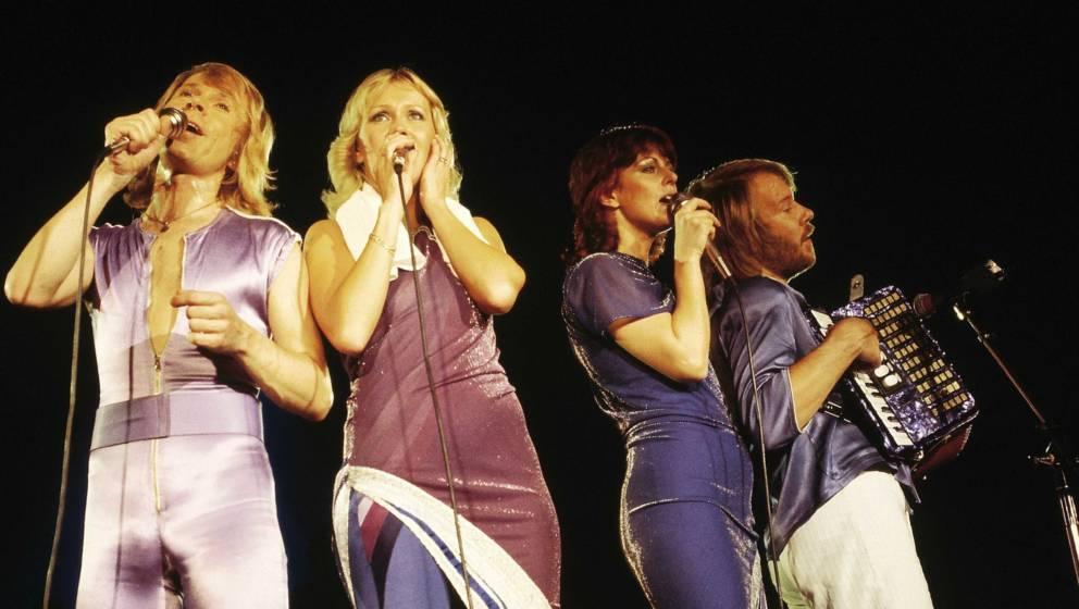 ABBA bei ihrem Auftritt im Wembley