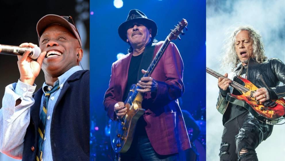 Corey Glover, Carlos Santana, Kirk Hammett