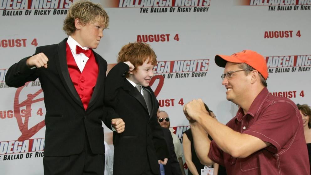 2006: Adam McKay, rechts, mit Houston Tumlin, links, und Grayson Russell.