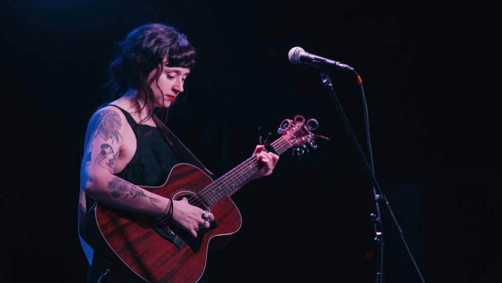 BIRMINGHAM, AL - MARCH 19:  Katie Crutchfield of Waxahatcee performs at Saturn Birmingham on March 19, 2017 in Birmingham, Al