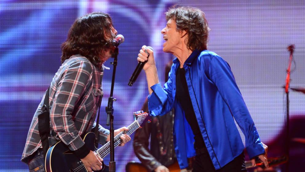 Dave Grohl und Mick Jagger performten schon öfter gemeinsam.