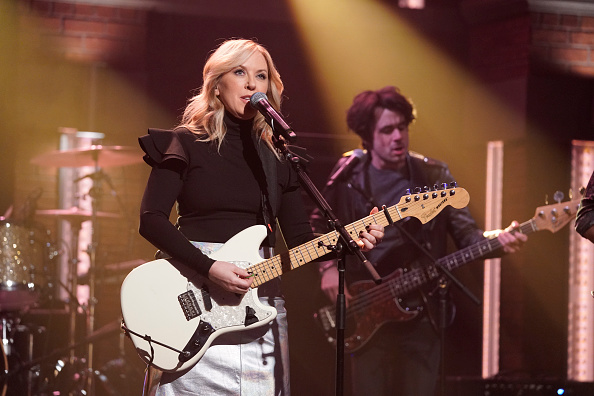 LATE NIGHT WITH SETH MEYERS -- Episode 913 -- Pictured: Singer Liz Phair performs on November 13, 2019 -- (Photo by: Lloyd Bi