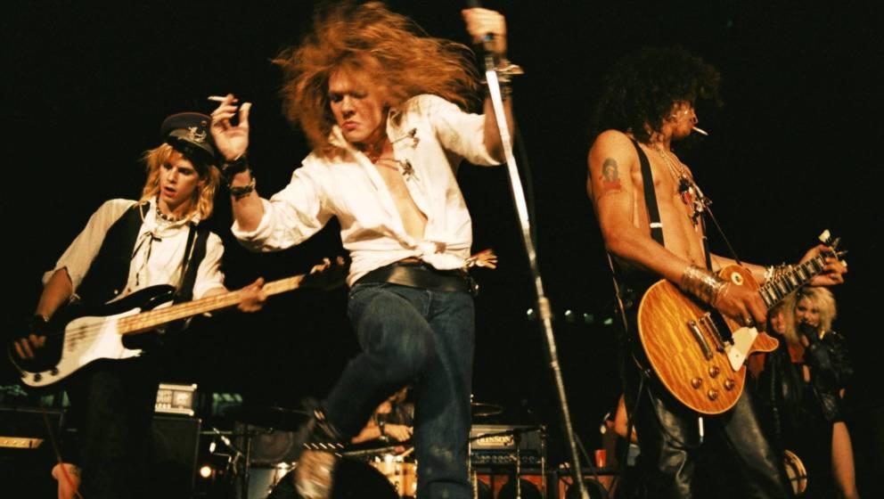 Duff McKagan, Axl Rose und Slash 1985 in Los Angeles.