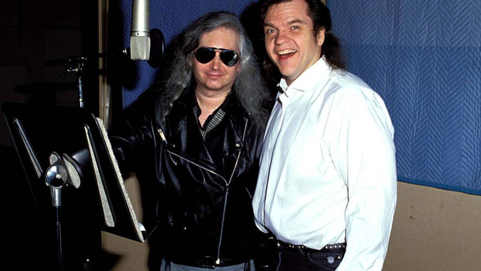 Meat Loaf and Jim Steinman during Meat Loaf in Studio Recording 'Bat Out of Hell II' in Los Angeles, California, United State