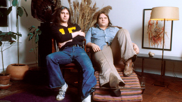 Meat Loaf (R) and Jim Steinman (L), portrait, New York, March 1978. (Photo by Michael Putland/Getty Images)