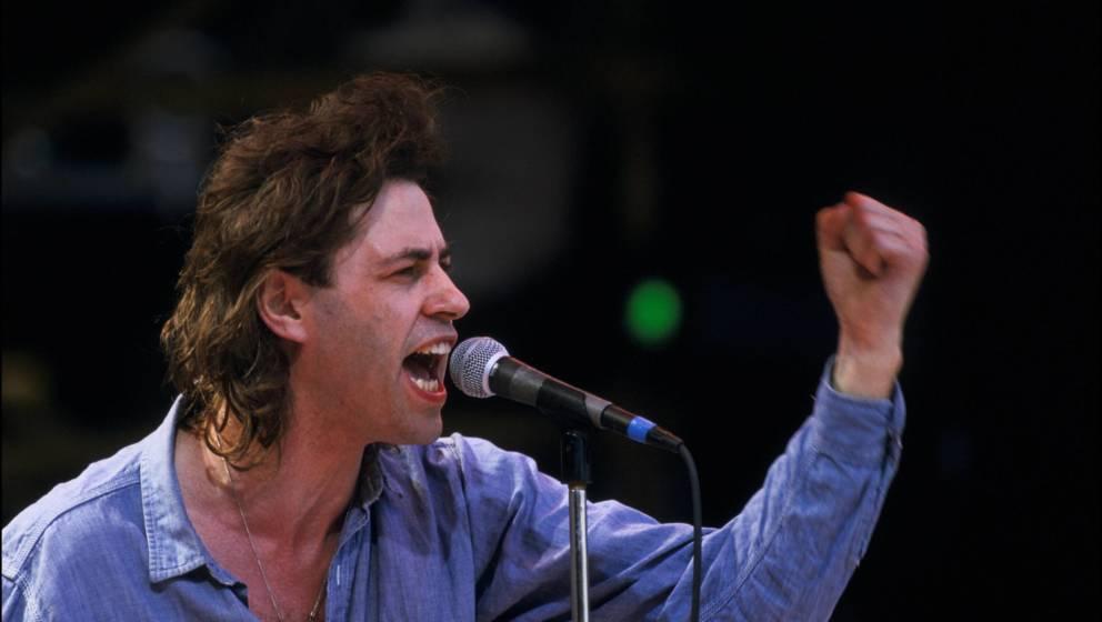Bob Geldof bei Live Aid 1985