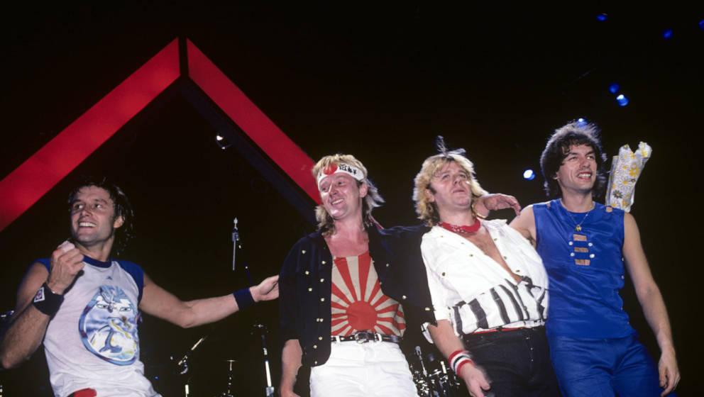 ASIA 1983: Carl Palmer, Geoff Downes, John Wetton und Steve Howe