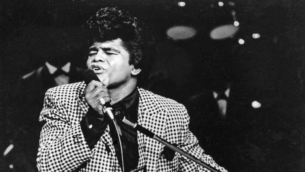 SANTA MONICA, CA - DECEMBER 29: 'Godfather of Soul' James Brown performs onstage at the TAMI Show on December 29, 1964 at the