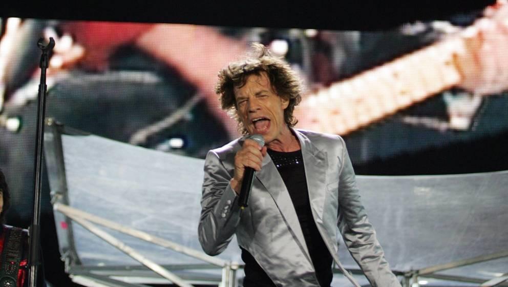 Mick Jagger von den Rolling Stones beim legendären Rio-Konzert 2006