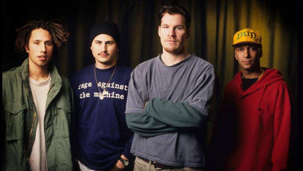 Rage Against The Machine, Zack De La Rocha, Tim Commerford, Brad Wilk, Tom Morello, Vaartkapoen (VK), Brussels, Belgium, 06/0