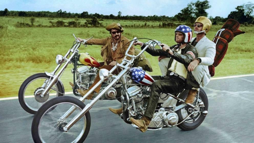 """Dennis Hopper, Peter Fonda und Jack Nicholson in """"Easy Rider"""", USA, 1969."""
