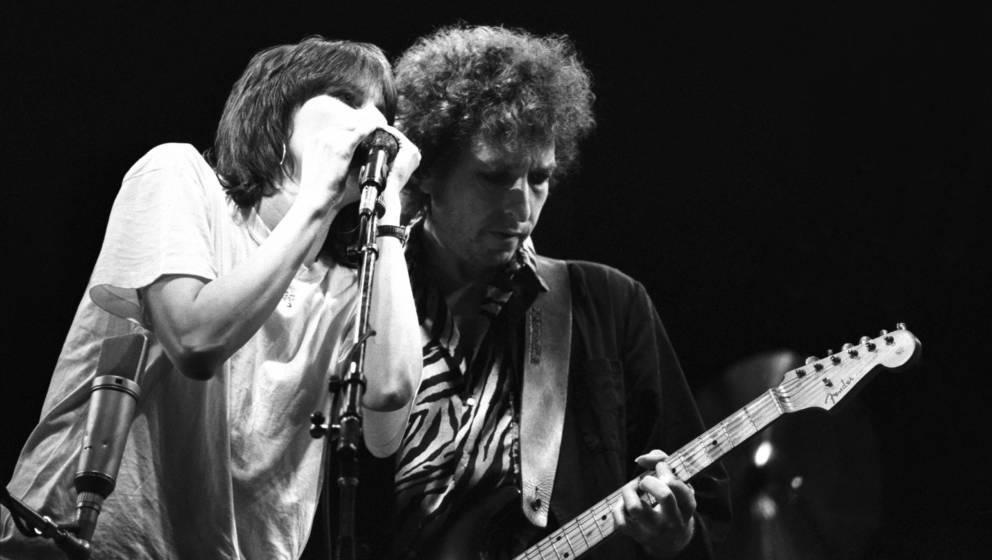 Bob Dylan und Chrissie Hynde, gemeinsam auf der Bühne 1984