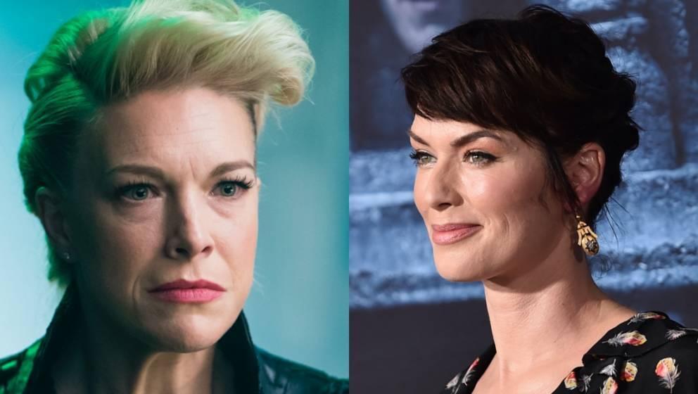 Für den Dreh ließ sich Hannah Waddingham (links) zehn Stunden lang von Lena Heady (rechts) 'foltern'.