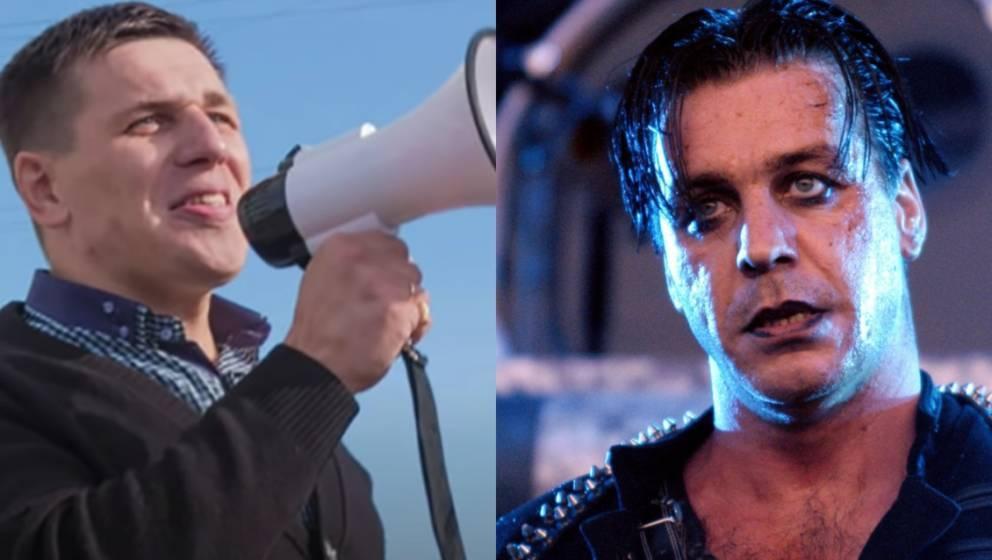 Links: Borovikov. Rechts: Rammsteins Sänger Till Lindemann.