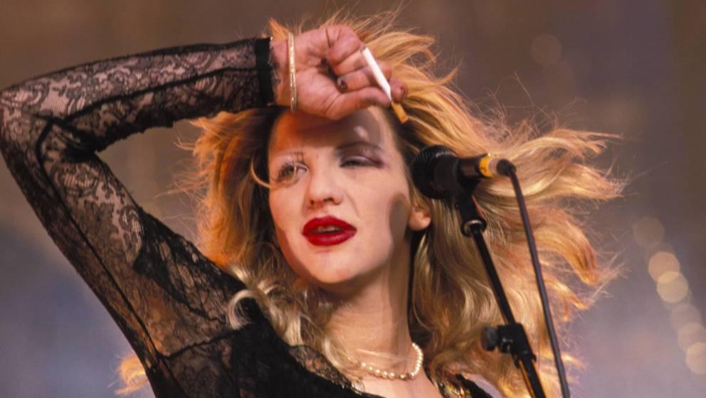 Schon ein paar Jahre her: Courtney Love mit ihrer band Hole (1995)