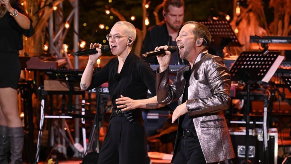 Stefanie Heinzmann und DJ BoBo beim Duett