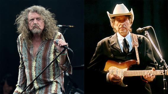Robert Plant drückt seine Bewunderung für Bob Dylans Songwriting aus.