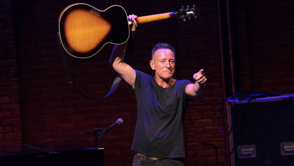 NEW YORK, NY - DECEMBER 15:  Bruce Springsteen takes his final 'Springsteen on Broadway' curtain call at Walter Kerr Theatre
