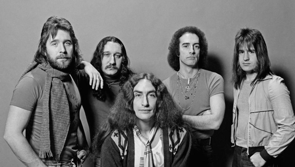 Uriah Heep (1976) mit John Lawton (4. von Links)