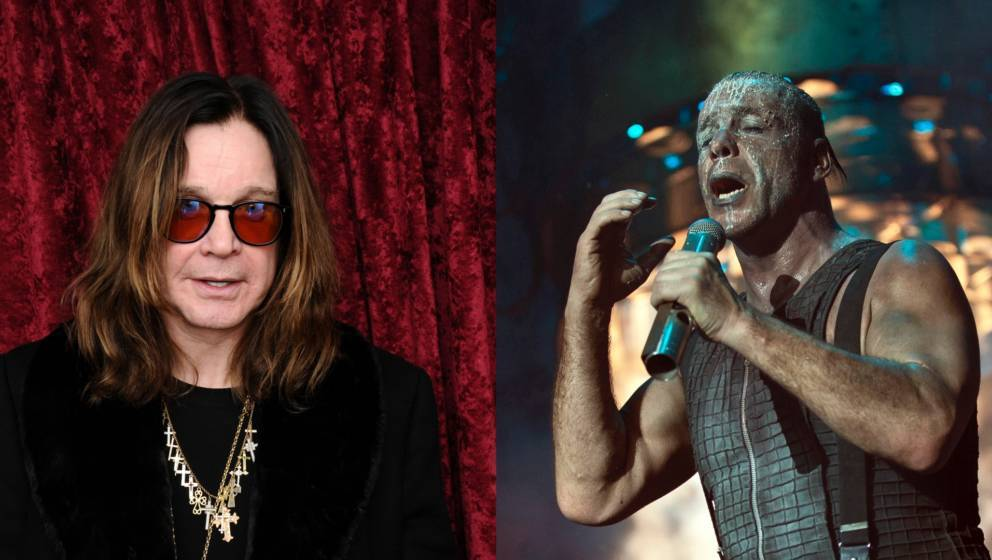 links im Bild Ozzy Osbourne, rechts Till Lindemann, Sänger von Rammstein