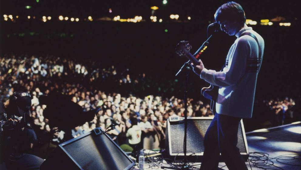 Noel Gallagher, Ex-Mitglied von Oasis, 1996 in Knebworth