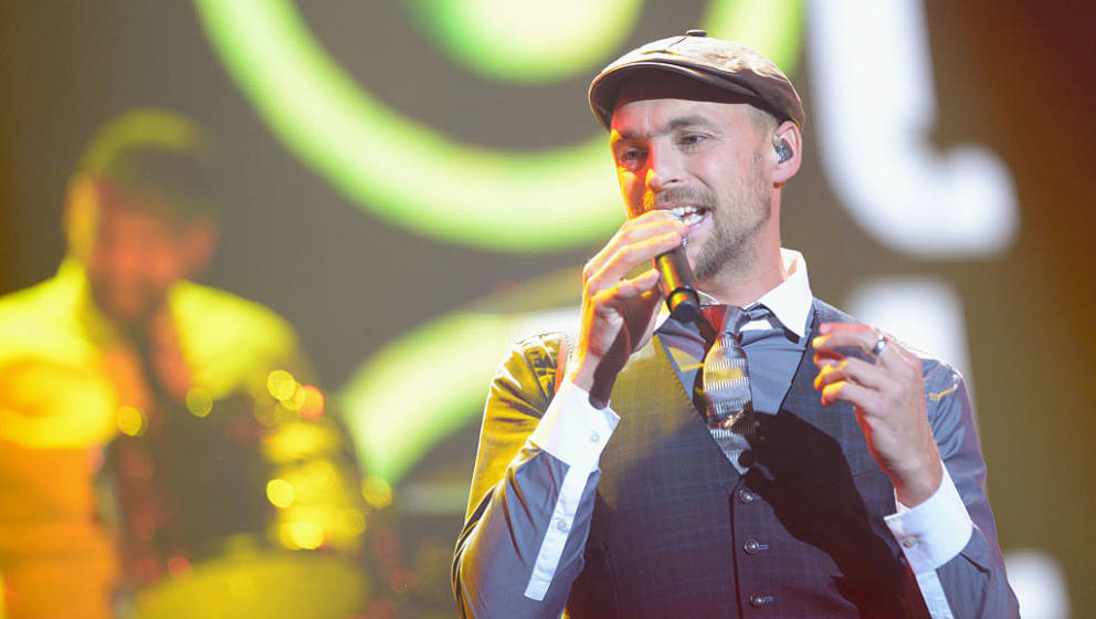 GOETTINGEN, GERMANY - SEPTEMBER 20: Max Mutzke from Baden-Wuerttemberg performs at  Bundesvision Song Contest 2014 on Septemb