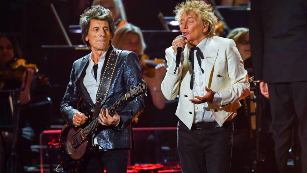 Ronnie Wood und Rod Stewart 2020 bei den Brit Awards.