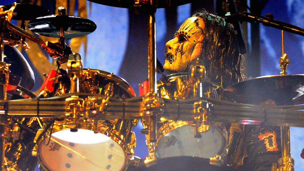 Joey Jordison (1975-2021) hier mit seiner Band Slipknot