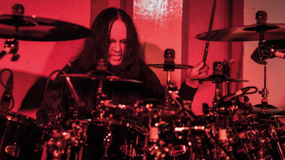 LONDON, UNITED KINGDOM - NOVEMBER 15: Drummer Joey Jordison of American hard rock group Vimic performing live on stage at the
