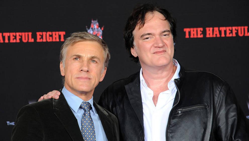 HOLLYWOOD, CA - JANUARY 05:  Actor Christoph Waltz and director Quentin Tarantino at Quentin Tarantino's Hands and Footprints